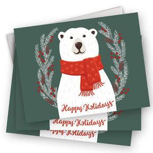 Other - polar bear holiday Christmas cards set of 25